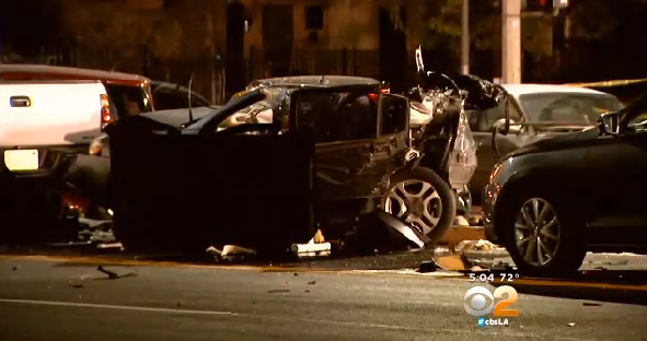 Suspected drunk driver kills one in 7-car crash