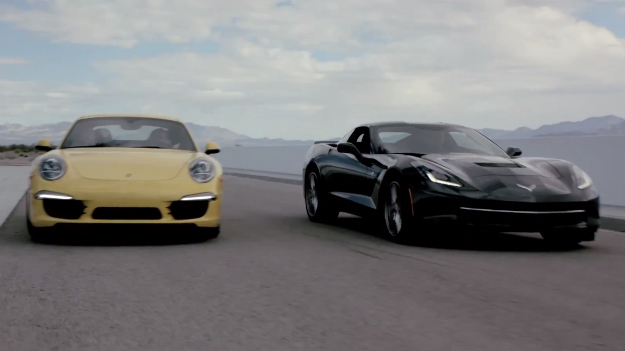 C7 Chevrolet Corvette vs. Porsche Carrera 911