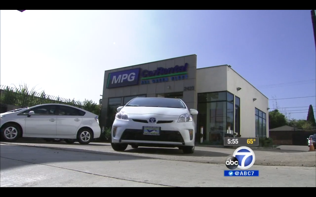 Green Cars For Rent Fill Los Angeles Niche