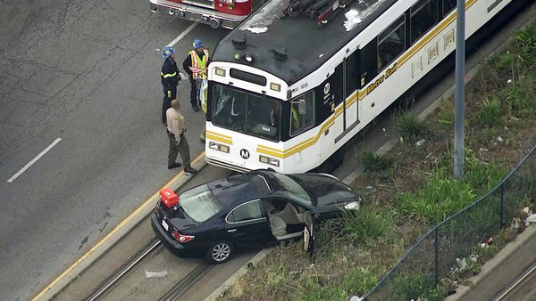 Several Injured After Train, Car Collide